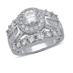 I've tagged a product on Zales: 3-1/2 CT. T.W. Baguette and Round Diamond Engagement Ring in 14K White Gold