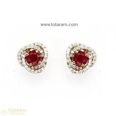 Diamond Earrings for Women in 18K Gold VVS Clarity E-F Color -Indian Diamond Jewelry -Buy Online Diamond Earrings For Women, Diamond Dangle Earrings, Women's Earrings, Diamond Jewelry, Indian Wedding Jewelry, Indian Jewelry, Diamond Jhumkas, Gold Earrings Designs, Designer Earrings