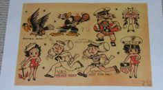 SAILOR JERRY Collins TATTOO flash sheet 7U NAVY MARINES for sale