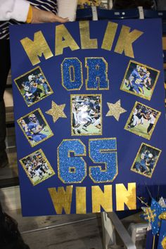 Juniors present senior football players & trainers with a good luck pos Football Season, Football Players, Football Signs, Football Stuff, Style Fitness, School Spirit Days, Cheer Posters, Soccer Poster, Sports Food