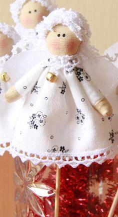 Boneca de Pano: Anjo de natal-passo a passo