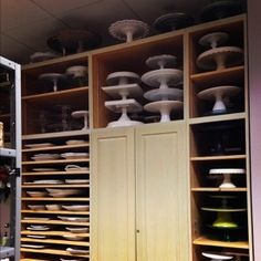 I love this because I am a firm believer that you can never have too much storage. This cake stand storage area is from the 2013 Southern Living Magazine's Idea House}