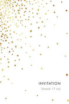 De la lumière et de la douceur, c'est ce que réserve ce carton d'invitation mariage Étincelles (dorure) à ses destinataires. #dorure #étincelles #invitation #mariage
