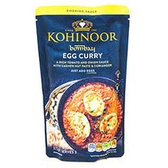 Buy Bombay Egg Curry Sauce online from Spices of India - The UK's leading Indian Grocer. Free delivery on Bombay Egg Curry Sauce - Kohinoor (conditions apply). Egg Recipes, Sauce Recipes, Onion Sauce, Egg Curry, Coriander Powder, Green Chilli, Curry Sauce, Mixed Vegetables