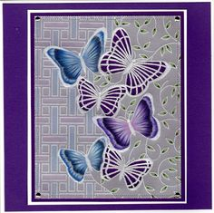 shippy | docrafts.com Hobbies And Crafts, Crafts To Make, Parchment Design, Parchment Cards, Animal Cards, Border Design, Paper Cards, Butterflies, Birthday Cards