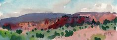 New Mexico Panorama Painting  - New Mexico Panorama Fine Art Print, Donald Maier