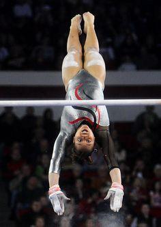 LSU Georgia Gymnastics gymnast uneven bars #KyFun m.44.7 from Gymnastics: Collegiate board