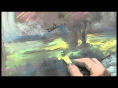Landschaft in Pastell von Hermann Hoormann