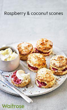 Desert Recipes, Raw Food Recipes, Sweet Recipes, Baking Recipes, Bagels, Waitrose Food, Baking Buns, Afternoon Tea Recipes, Delicious Desserts