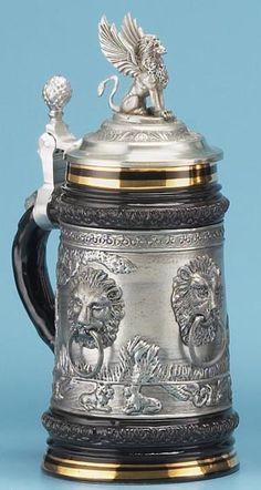 LION STEIN - Traditional Stoneware & Pewter Beer Steins - 1001BeerSteins.com