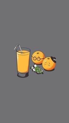 Orange Juice Funeral Funny iPhone SE Wallpaper