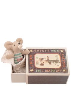 maileg baby mouse in a box...