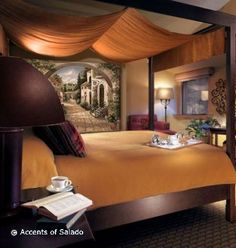 tuscany interior decor, tuscan style decorating, tuscan bedroom design, how to create tuscan style rooms, tuscan home Old World Bedroom, Tuscan Style Bedrooms, Tuscan Bedroom Decor, Earthy Bedroom, Tranquil Bedroom, Tuscan Style Homes, Warm Bedroom, Colonial Style, New Wall