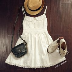 Lace Trim Cute Cami Dress