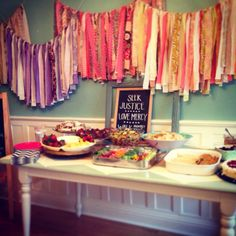 My little shop. Fabric banners @theolivegroveshop baby shower decor https://www.etsy.com/shop/theolivegroveshop