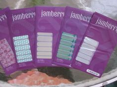 JAMBERRY  NAIL WRAPS LOT OF 5 NEW RETIRED MANI BUGGED HOST CROC LACE MAY GOOD #JAMBERRY