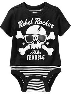 """Rebel Rocker"" Graphic Tee Bodysuits for Baby | Old Navy"