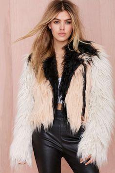 Chaser Block Party Faux Fur Moto Jacket | Shop Jackets + Coats at Nasty Gal