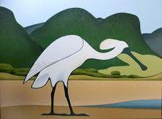 Don Binney - Rapunga Birds Painting, New Zealand Art, New Art, Contemporary Artwork, Maori Art, Art Images, Visual Art, Animal Paintings, Bird Art