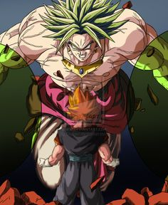 Brolly VS Vegetto by Gothax.deviantart.com on @DeviantArt