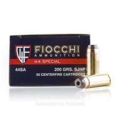 Fiocchi 44 S&W Special Ammo - 50 Rounds of 200 Grain SJHP Ammunition #44Special #44SpecialAmmo #Fiocchi #FiocchiAmmo #Fiocchi44Special #SJHP
