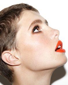 Orange lip - Make-up look