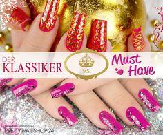 #red #pink #nails #trend Rot war die erste Nagellackfarbe auf dem Markt und der absolute Klassiker - pinkfarbene Nägel sind ein Must-Have und in jeder Modesaison vertreten!  Und der Gewinner in diesem Duell ist ... ? Wir sind auf Eure Meinungen gespannt! Eure Martina