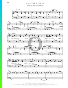 Ghostbusters by Ray Parker Jr. Ray Parker, B Flat Major, Ghostbusters Movie, Piano Sheet Music, Soundtrack, Jr, Special Occasion, Songs, Traditional