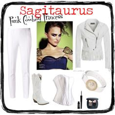 Sagitaurus-- Punk Cowboy Princess by redcarpetlook on Polyvore featuring Versace, Michael Kors, Bare Escentuals and Lord & Berry