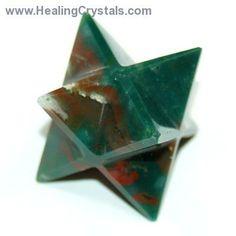 Merkaba - Bloodstone Merkaba Star- Bloodstone - Healing Crystals