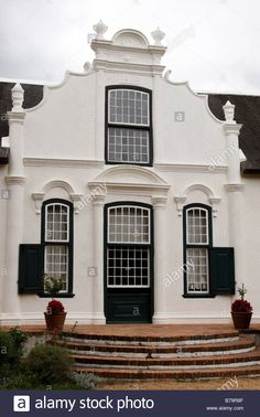 typical cape dutch architecture of the buildings around boschendal one of the oldest wine estates in franschhoek south africa Stock Photo Architecture Images, Ancient Architecture, Cape Dutch, South Africa, Holland, Living Spaces, Sweet Home, Old Things, Cottage