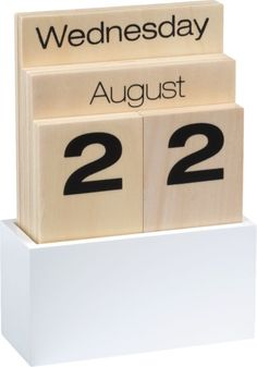 shuffle calendar in office accessories | CB2  - I could so make this!