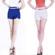 Women's Slim Shorts Embroidery Trouser Hot Pants
