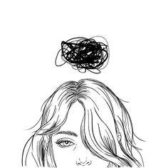 Sara Herranz--this is how I am feeling right now :-/ Illusion Kunst, Pics Art, Art Inspo, Cool Art, Art Drawings, Pencil Drawings, Drawing Art, Art Photography, Illustration Art