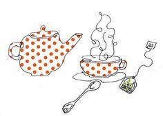 Red polka dots tea
