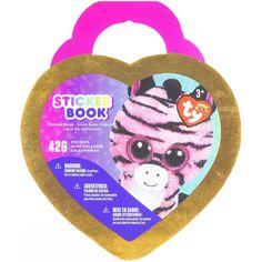 Darice Beani Boo Heart Shaped Sticker Book-Zoey The Zebra 426/Pkg - zoey the zebra 426/pkg