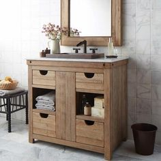 weathered wood bathroom vanity elegant rustic bathroom vanities for sale Reclaimed Wood Bathroom Vanity, Bathroom Vanity Designs, Rustic Bathroom Vanities, Bathroom Vanity Cabinets, Wood Vanity, Vanity Set, Single Bathroom Vanity, Bathroom Furniture, Vanity Ideas