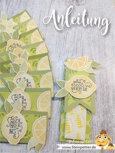 stampin up anleitung verpackung video lemon zest zitronen stanze fritt mitbringsel goodie how to limette papierschneider maße stempeltier workshop