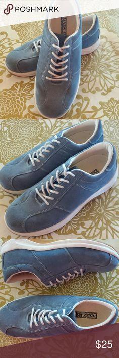 Land's End Suede Shoes Land's End suede sneakers. Soft denim blue. EUC. Lands' End Shoes Athletic Shoes