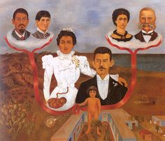 From a major exhibition of over 40 iconic Frida Kahlo paintings. This one seems to show her as a pregnant woman in wedding to Diego Rivera. Diego Rivera Frida Kahlo, Frida And Diego, Mexican Artists, Mexican Folk Art, Spanish Artists, Tempera, Kahlo Paintings, Oil Paintings, Frida Art