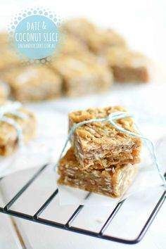 Date and coconut slice (with quinoa)