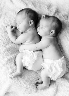 Lieve foto voor een tweeling