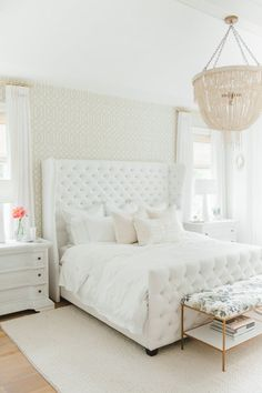 The dreamiest white bedroom...