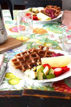 As Minhas Receitas: Waffles de Banana e Aveia