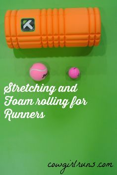 Stretching and foam rolling for runners