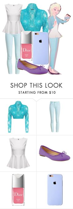 """""""Elsa"""" by dutchveertje ❤ liked on Polyvore featuring WearAll, Barbour, Old Navy, Christian Dior, disney, disneybound, frozen, disneycharacter and elsa"""