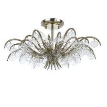 View the Crystorama Lighting Group 430 Crystal 5 Light Semi-Flush Mount Ceiling Fixture draped with Clear Beads from the Metro Collection at LightingDirect.com.