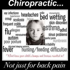 CHIROPRACTIC...NOT FOR BACK PAIN- IT'S FAR BIGGER THEN THAT!