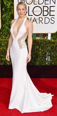 Golden Globes 2015: Red Carpet Arrivals - Kate Hudson from #InStyle #2015goldenglobes #redcarpet