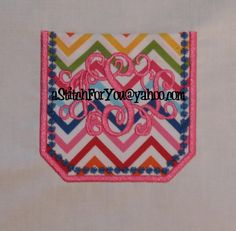 POCKETS wCandlewick Motif  Applique wOrKiNg  7 by astitchforyou, $4.75